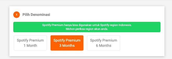 memilih paket spotify premium
