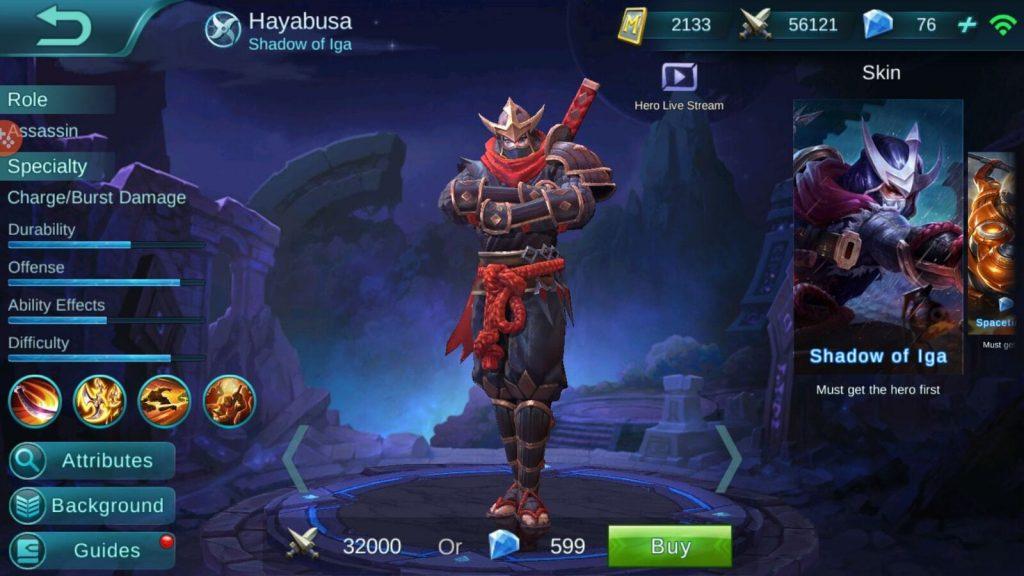 skill hero hayabusa