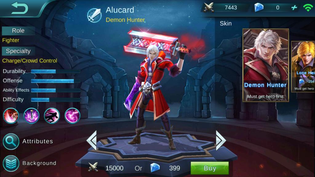 skills alucard