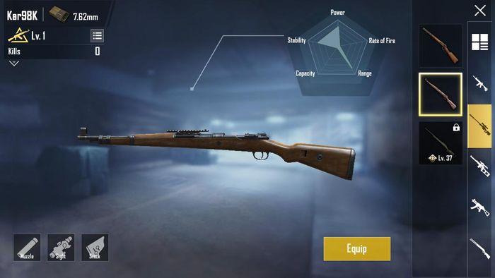 senjata kar98k pubg