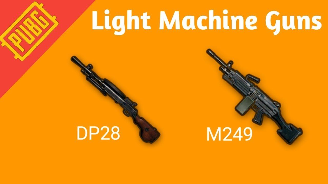 senjata pubg m249