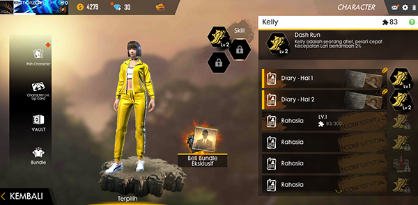 skill kelly free fire