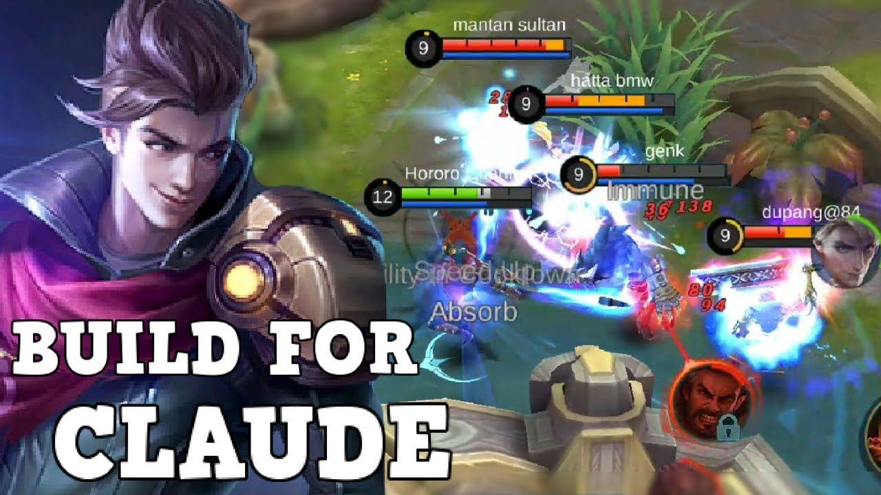claude mobile legend build