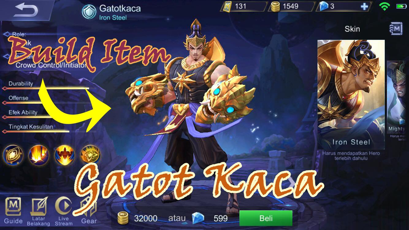 gatotkaca mobile legend build