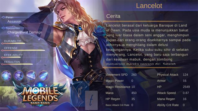 lancelot mobile legends story