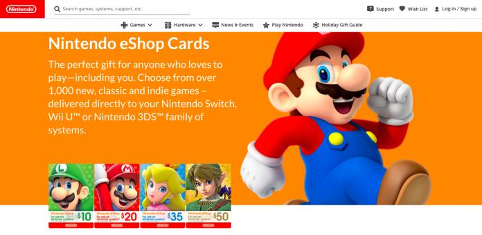 nintendo eshop cards - kado untuk gamers