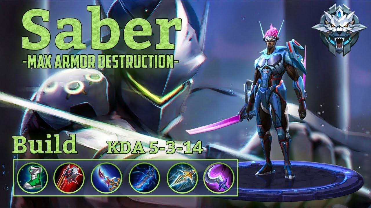 saber mobile legends build
