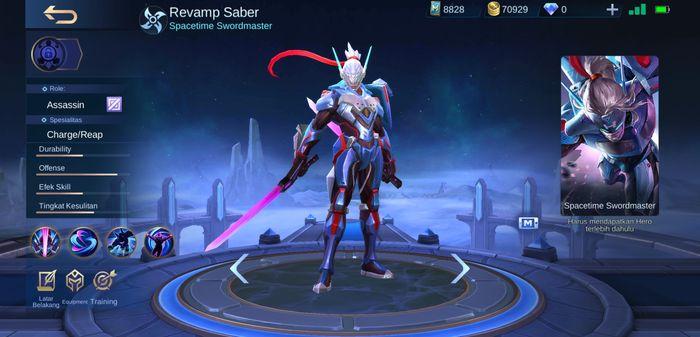 saber mobile legends skill