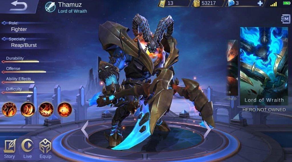 thamuz mobile legends skin