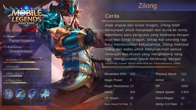 zilong mobile legend story