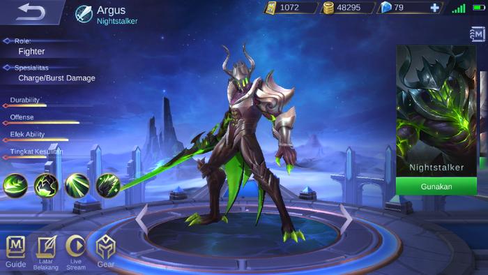 argus mobile legend skill