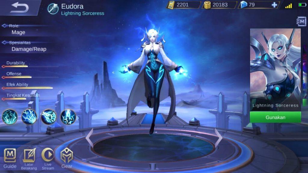 eudora mobile legends character