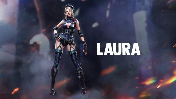 laura free fire, sang agen spesial ahli penembak jitu