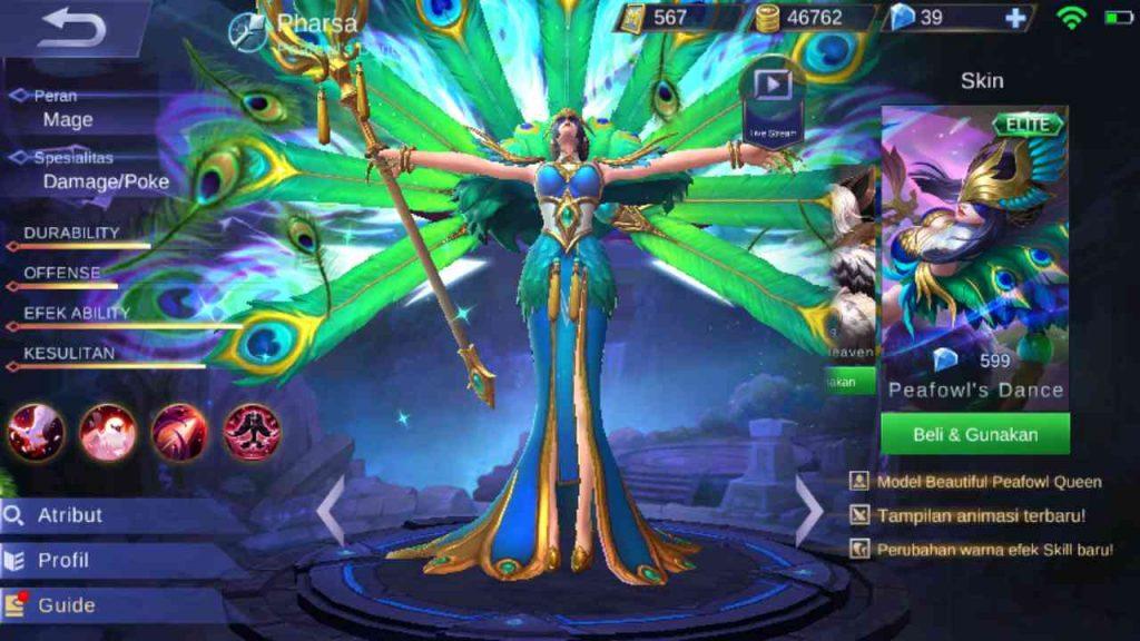 parsha mobile legend skill
