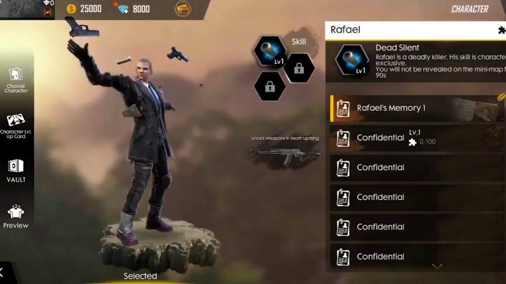 rafael free fire character