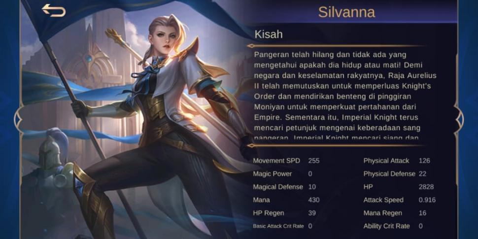 silvanna mobile legends story