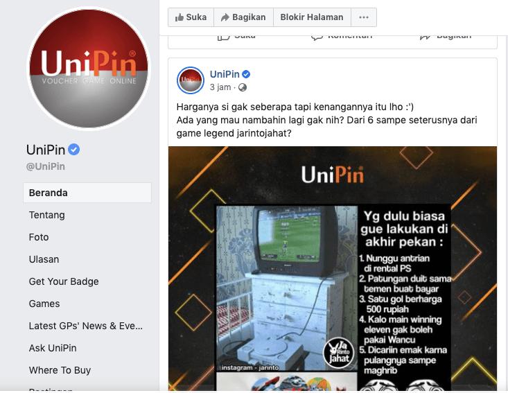 facebook unipin