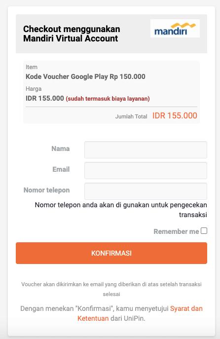 bayar voucher google play pakai bank
