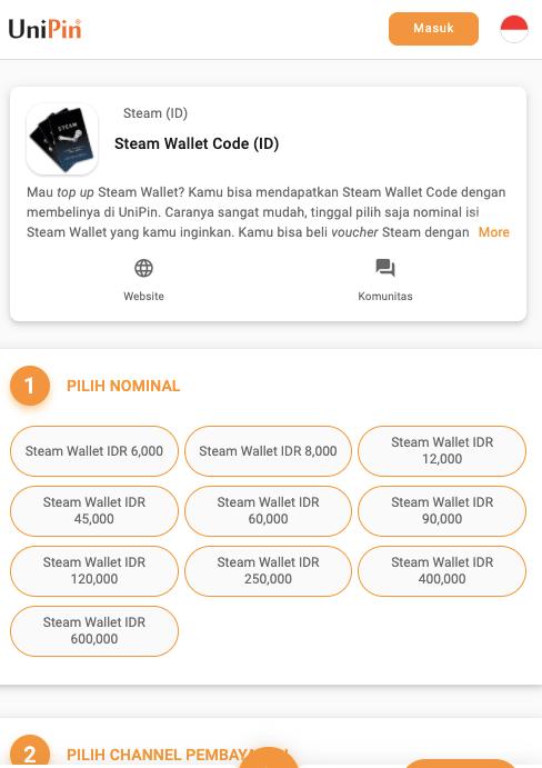 beli steam wallet UniPin