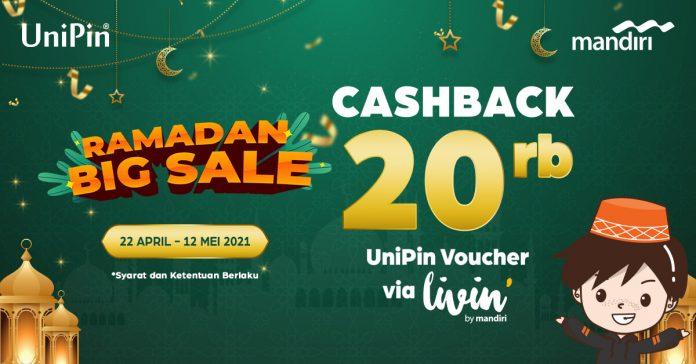 cashback 20 ribu voucher UniPin