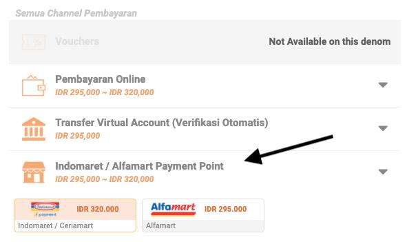 channel pembayaran indomaret dan alfamart