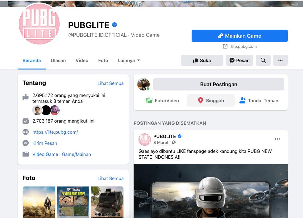 halaman PUBG Lite