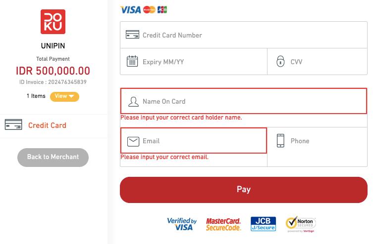 memasukkan data kartu debit