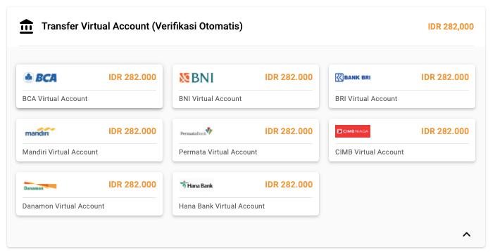 pilihan transfer virtual account