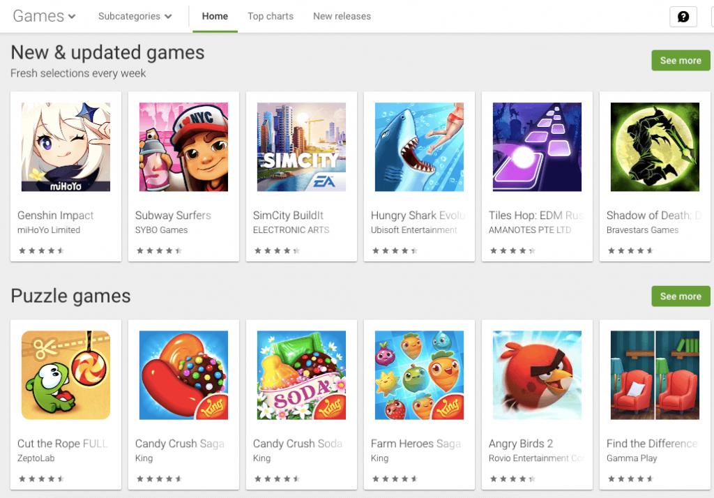 rekomendasi game di play store