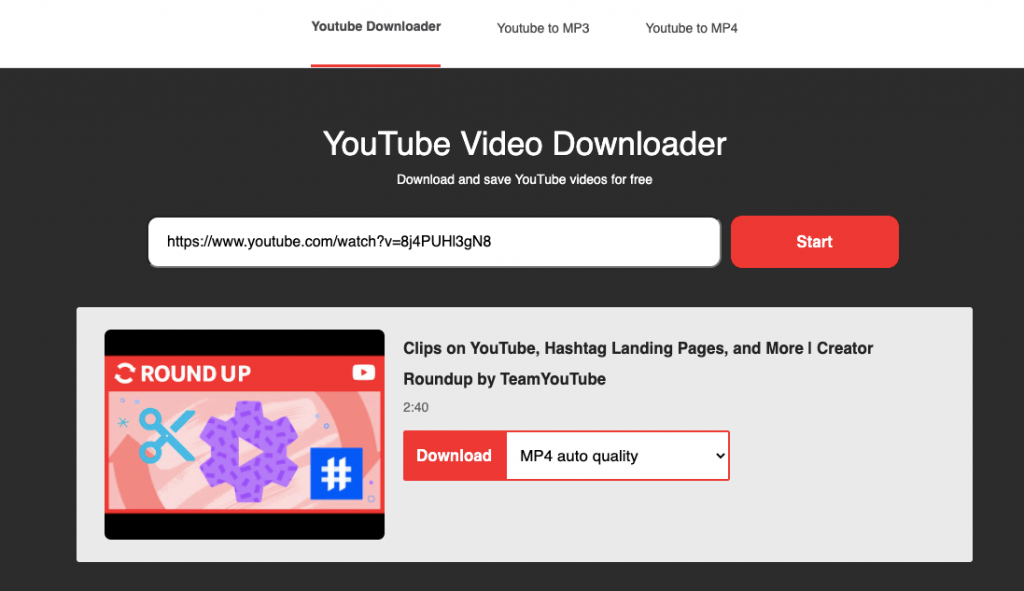 web untuk download video youtube