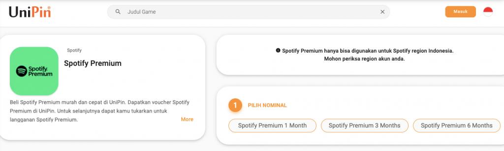 beli spotify premium