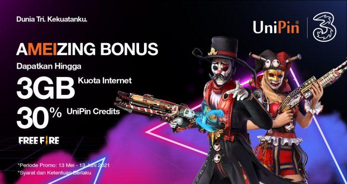 promo top up game pakai tri di UniPin - AMEIZING