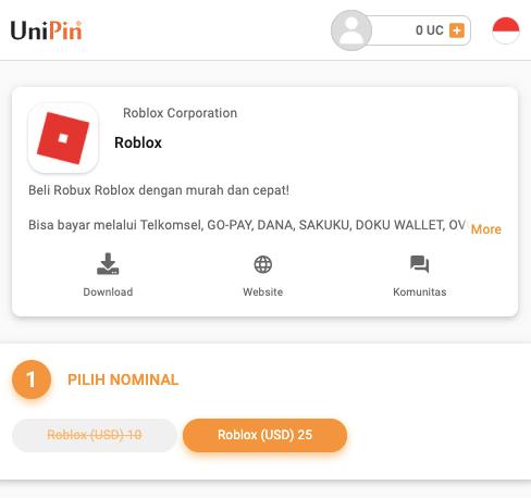 top up roblox UniPin