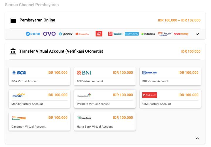 virtual account di UniPin