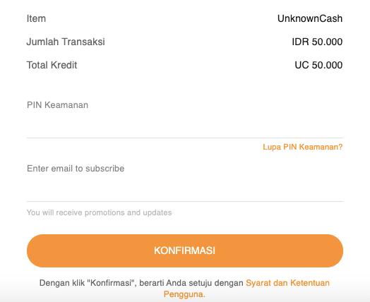 bayar UC PUBG pakai UniPin Credits