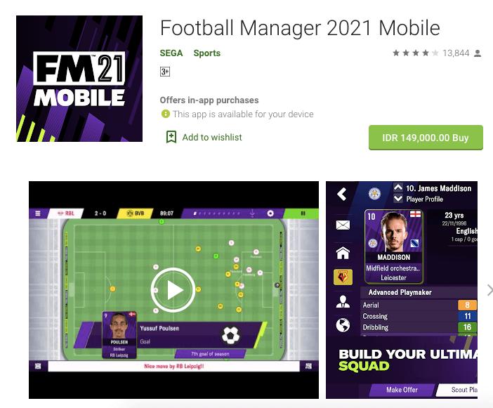 beli football manager di play store