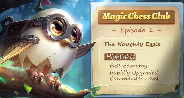 naughty eggie magic chess, commander untuk bantu push rank