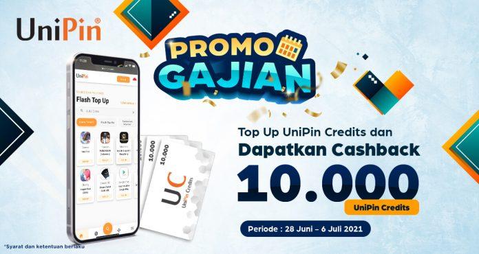 promo gajian cashback 10 ribu top up UniPin Credits