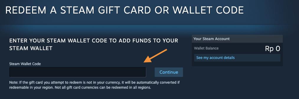 redeem steam wallet code
