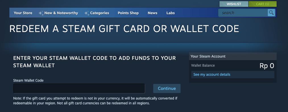 redeem voucher Steam