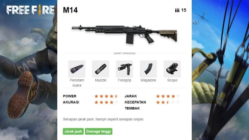 senjata m14 free fire