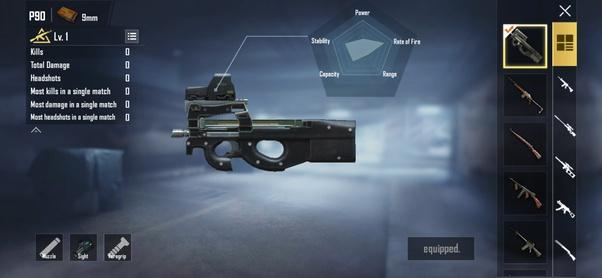 senjata p90 pubg