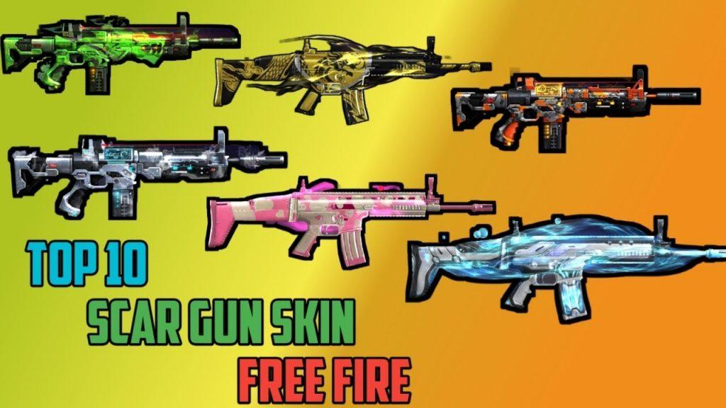 skin senjata scar ff