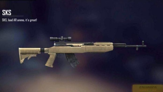 sks free fire, senjata jarak jauh yang efisien