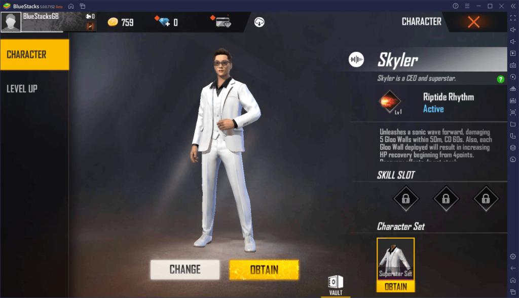 skyler ability free fire