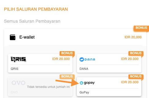 bayar UC pakai GoPay