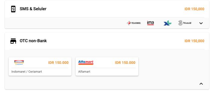 bayar mango live Indomaret-Alfamart