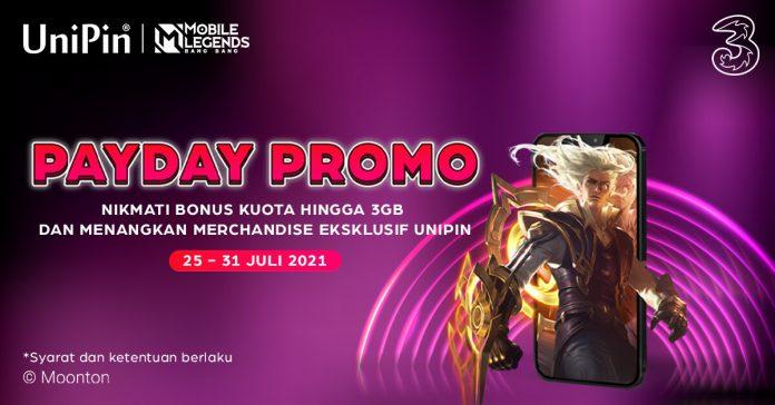 promo pay day UniPin dan Tri Juli 2021