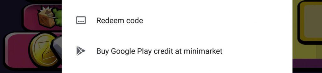 redeem kode google play