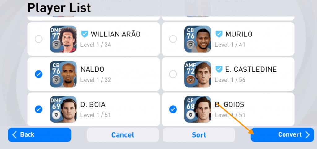 tandai pemain yang jadi trainer